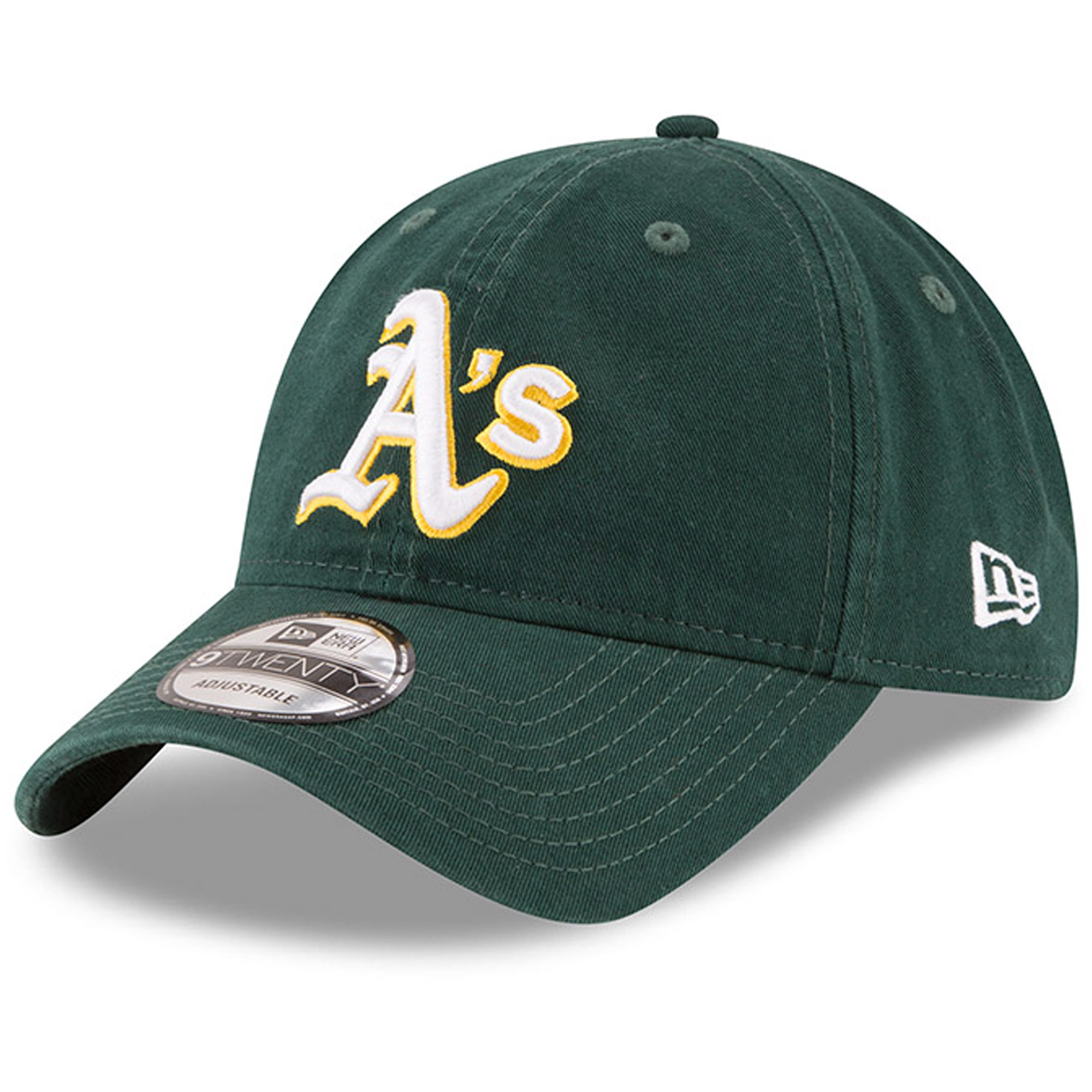 Oakland Athletics New Era Road Replica Core Classic 9TWENTY Adjustable Hat - Green - OSFA