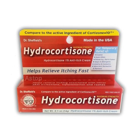 2 Dr. Sheffield's Maximum Strength Hydrocortisone 1% Anti-Itch Cream - 5 Ounce