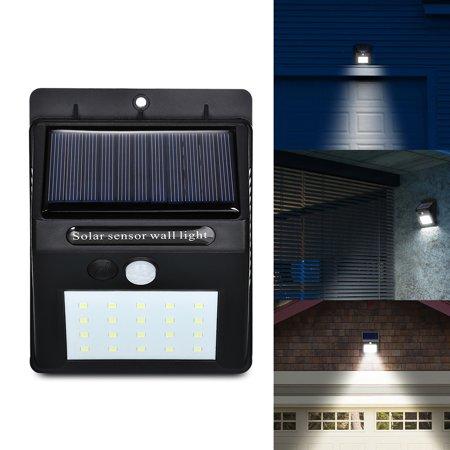 Solar Wall Light,Solar Motion Sensor Wall Light IP65 Waterproof for Outdoors Garden Patio Yard Garage Dim Type ()