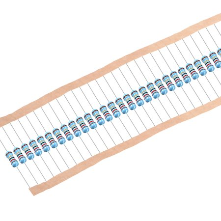 1/2 Watt 82 Ohm Metal Film Resistors 0.5W 1% Tolerances 5 Color Bands 100 Pcs - image 4 of 4