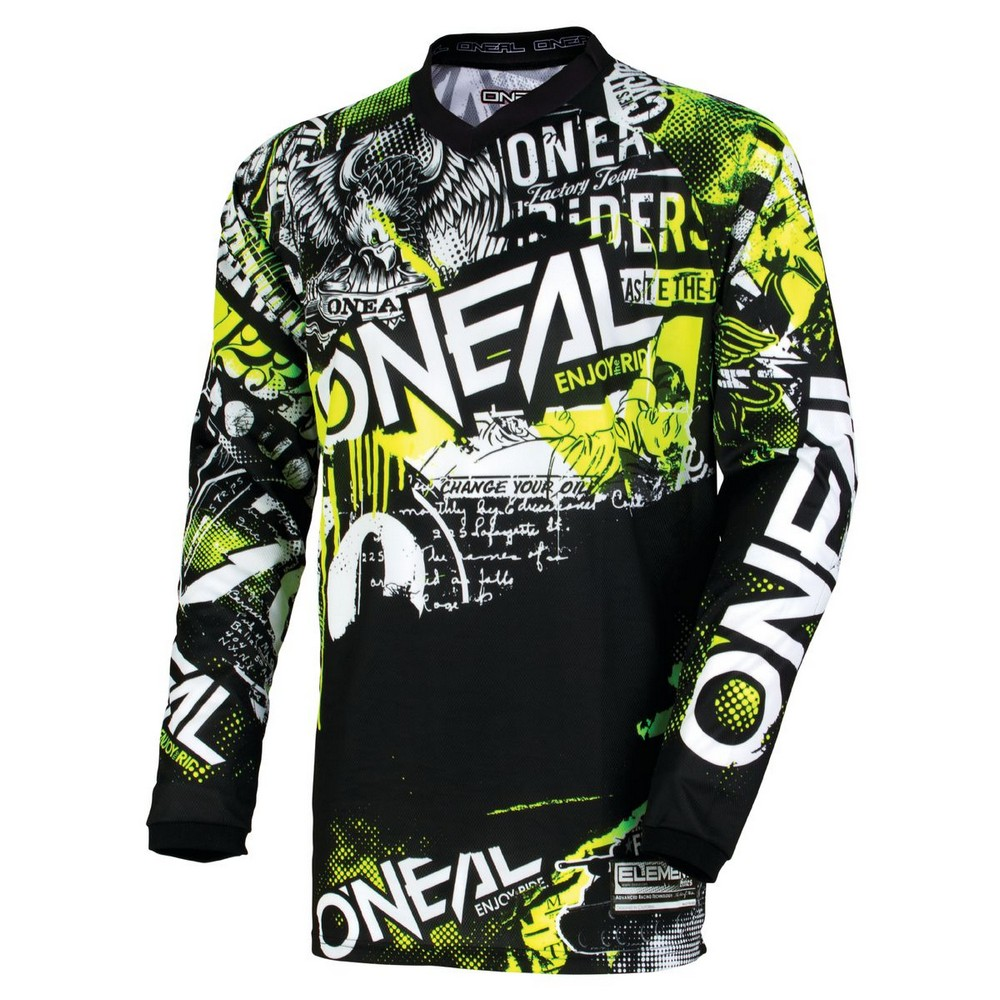 ONeal Demolition Unisex-Mens Jersey Black, Small