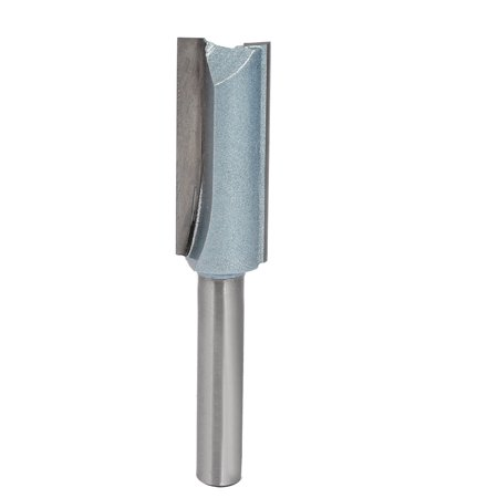 """1/4"""" x 1/2"""" Carbide Tipped Double Flute Straight Router Bit Wood Cutting Tool"""