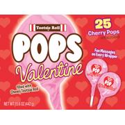 Tootsie Roll Pops Valentine Cherry Pops, 15.6 Oz., 25 Count