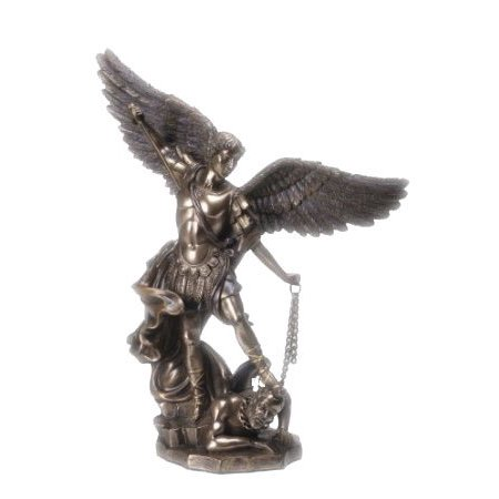 10.25 Inch Saint Michael The Famous Archangel Resin Statue Figurine (Scale Resin Statue)