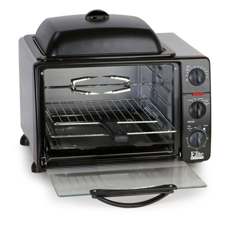 Elite Platinum ERO-2008SZ Multi-Function Toaster Oven w/ Rotisserie and Grill/Griddle Top - 8 Cu Ft.