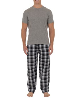5ac57a405 Product Image Fruit of the Loom Big & Tall Men's Microsanded Woven Pant  with Jersey Top 2-