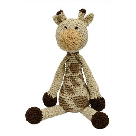 Giraffe Stuffed Toy - Cream-Brown Giraffe Handmade Amigurumi Stuffed Toy Knit Crochet Doll VAC