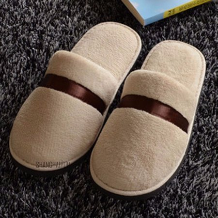 Women Men Plush Slippers Home Floor Indoor Sandal Mule Flip Flop Winter Warm New