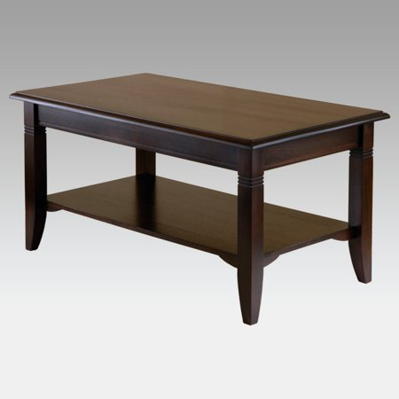 Winsome Wood Nolan Coffee Table, Cappuccino Finish