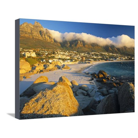 Clifton Bay and Beach, Cape Town, South Africa Stretched Canvas Print Wall Art By Peter Adams