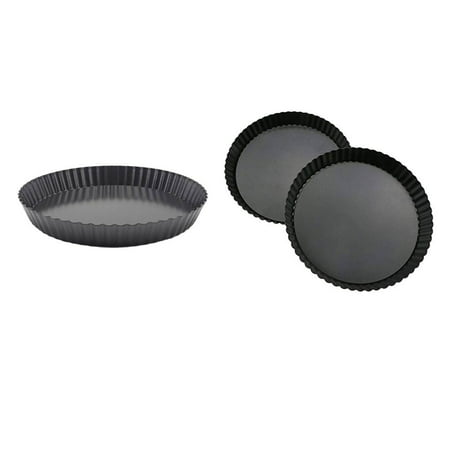 1PCS Non-Stick Removable Loose Bottom Quiche Tart Pan Round Pie Pizza Pan with Removable Base - image 1 of 7