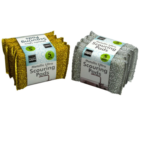 Metallic Ultra Scouring Pads (Pack Of 36)