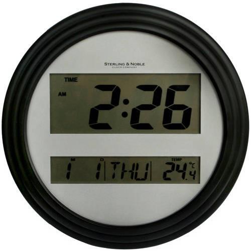 Mainstays Digital Wall Clock, Black by Infiniti Group International, Inc.