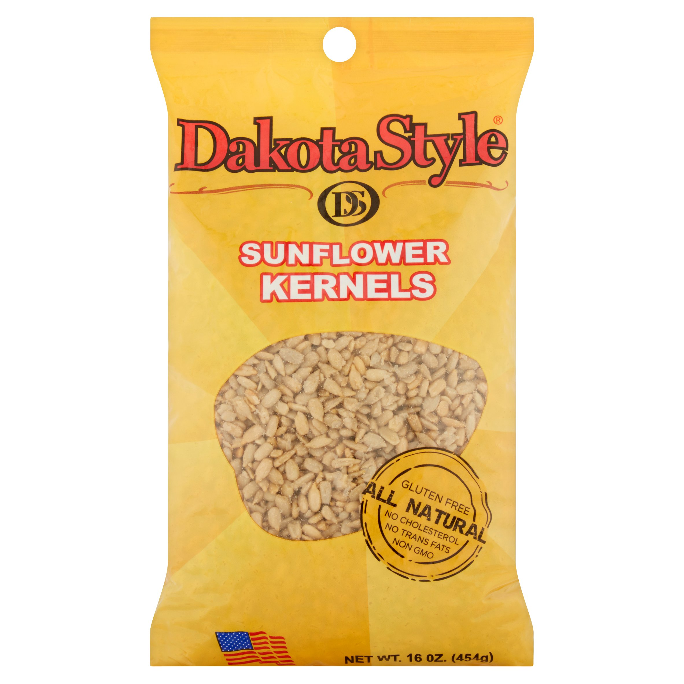 Dakota Style Roasted and Salted Sunflower Kernels, 16 oz
