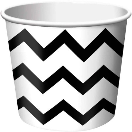 Chevron Stripe Treat Cups, Black, Pack of 6 - Treat Cups