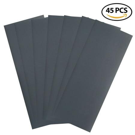 800 Grit Dry Wet Sandpaper Sheets - 9 x 3.6