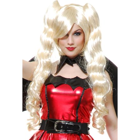 Womens Blonde Anime Ghost Princess Perona One Piece Removable Ponytail Wig - Blond Ponytail Wig