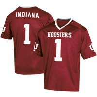 Men's Russell Athletic #1 Crimson Indiana Hoosiers Fashion Football Jersey