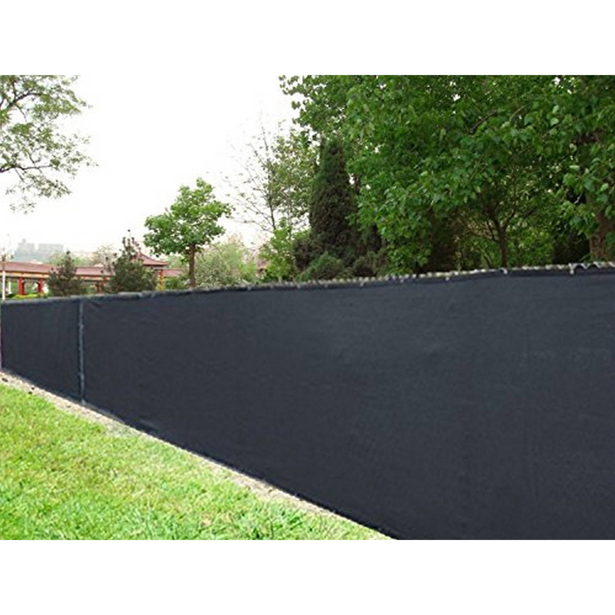 Aleko 6u0027 X 150u0027 (Aluminum Eye) Black Fence Privacy Screen Outdoor Backyard