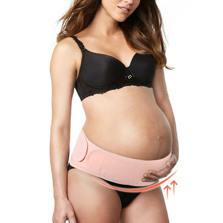 Maternity Belt Pregnancy Support Belt Breathable Belly Band Adjustable Abdominal Binder, Back and Pelvic Support, Prenatal Cradle for Baby Prenatal and Postpartum