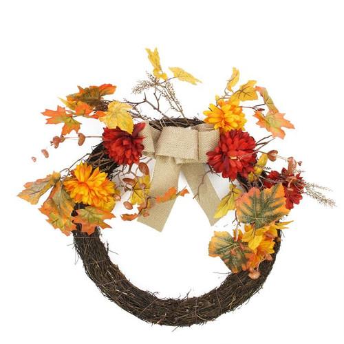 Northlight Seasonal 20'' Fabric Plastic Wreath