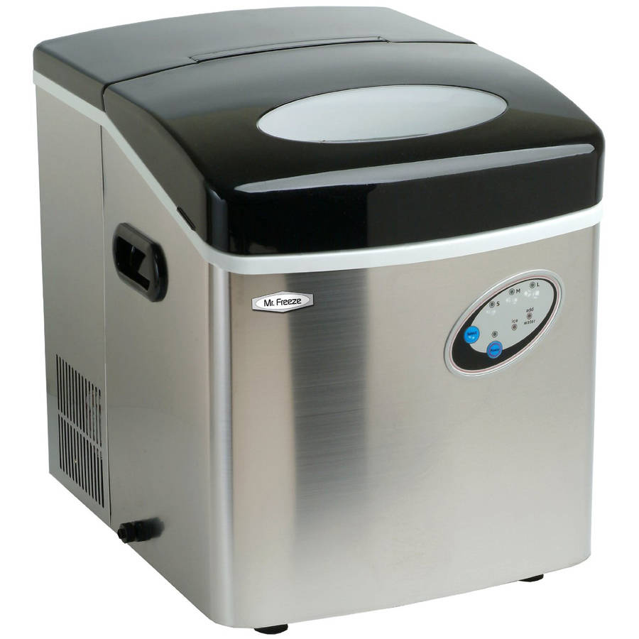 Maximatic Mr. Freeze Stainless Steel Compact Counter Top Portable Ice Maker