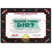 Older Than Dirt Certificate (Pack of 6)