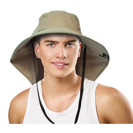 3374ae181251a Sun Blocker Outdoor Sun Protection Fishing Cap with Neck Flap