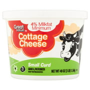 Great Value Small Curd Cottage Cheese, 48 oz