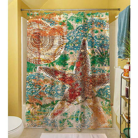 Thumbprintz Coastal Motif 1 Shower Curtain