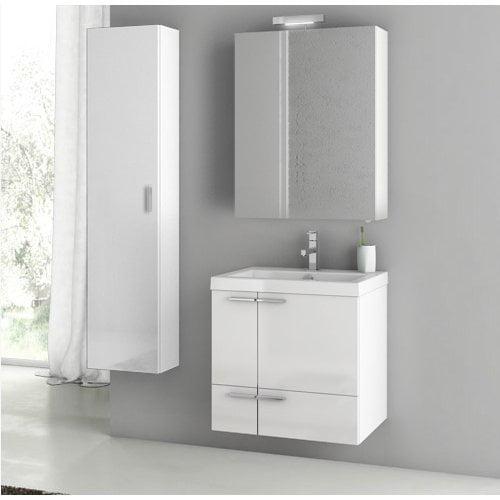 ACF by Nameeks ACF ANS27-GW New Space 23-in. Single Bathroom Vanity Set - Glossy White