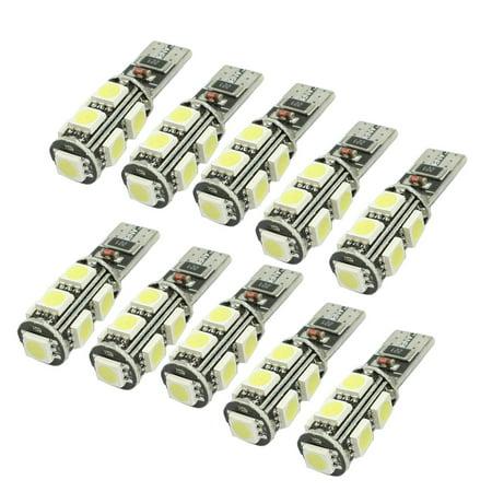 Unique Bargains 10 Pcs Auto T10 W5W 194 White 9-5050 SMD LED Canbus light Lamp Bulb
