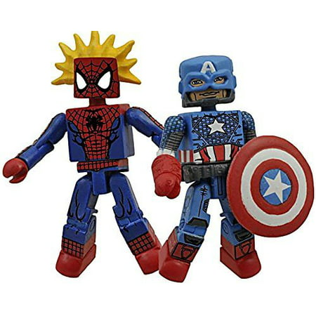Marvel Minimates Best of Series 3 Spider Sense Spider-Man & Marvel Now Captain America, Marvel Minimates Best of Series 3 Spider Sense Spider-Man & Marvel Now Ca.., By Diamond Select Ship from