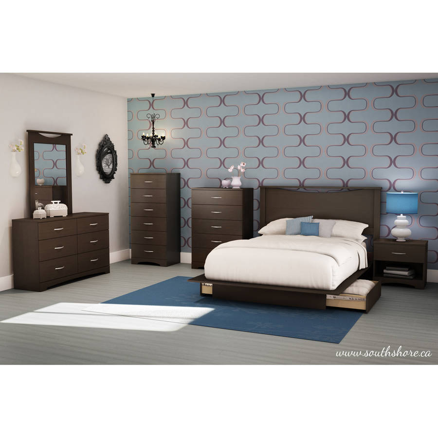Soho Bedroom Furniture South Shore Soho Full Queen Storage Platform Bed With 2 Drawers