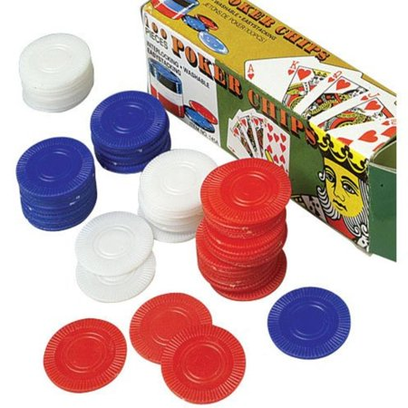 , Poker Chips (100 Pieces), Includes one box of 100 assorted poker chips By Rhode Island