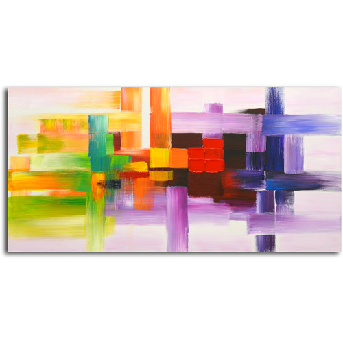 Omax Derivitives of Color Oil Painting on Canvas - 48W x 24H in.