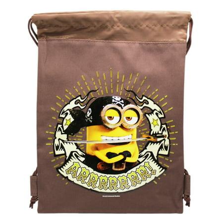 Minions Pirate Themed Canvas Drawstring Bag