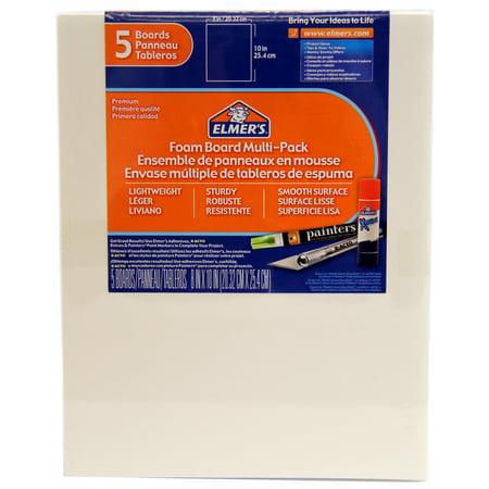 "Elmers Foam Board Multi-Pack, 8"" x 10"" 5/Pkg., White"