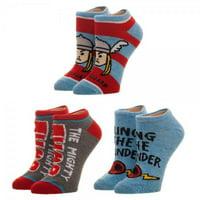 Ankle Sock - Marvel - Thor Youth 3 Pack New xs61vxmvl