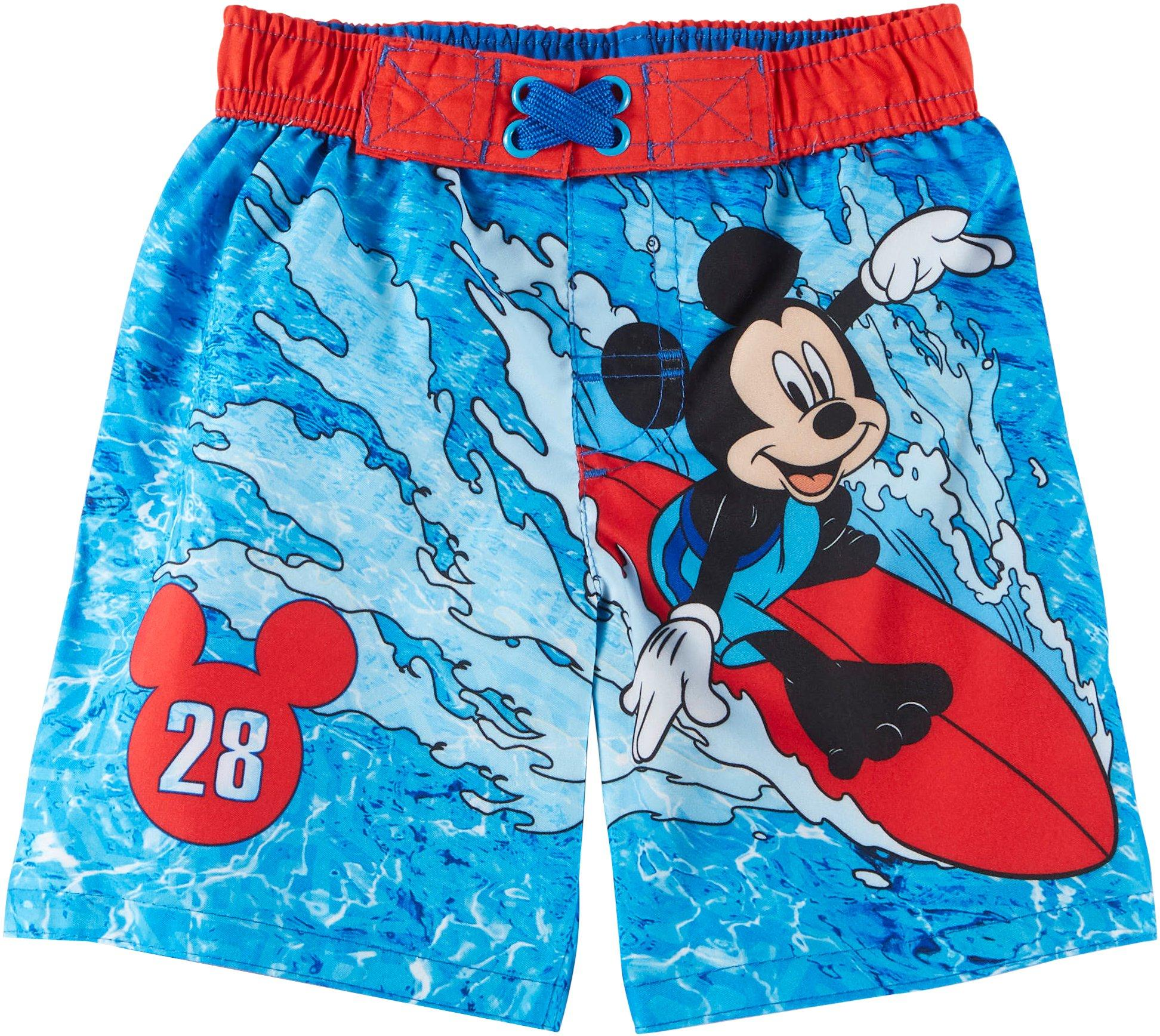 Disney Mickey Mouse Swim Trunks For Boys Size 4