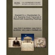 Drackett Co V. Chamberlain Co U.S. Supreme Court Transcript of Record with Supporting Pleadings