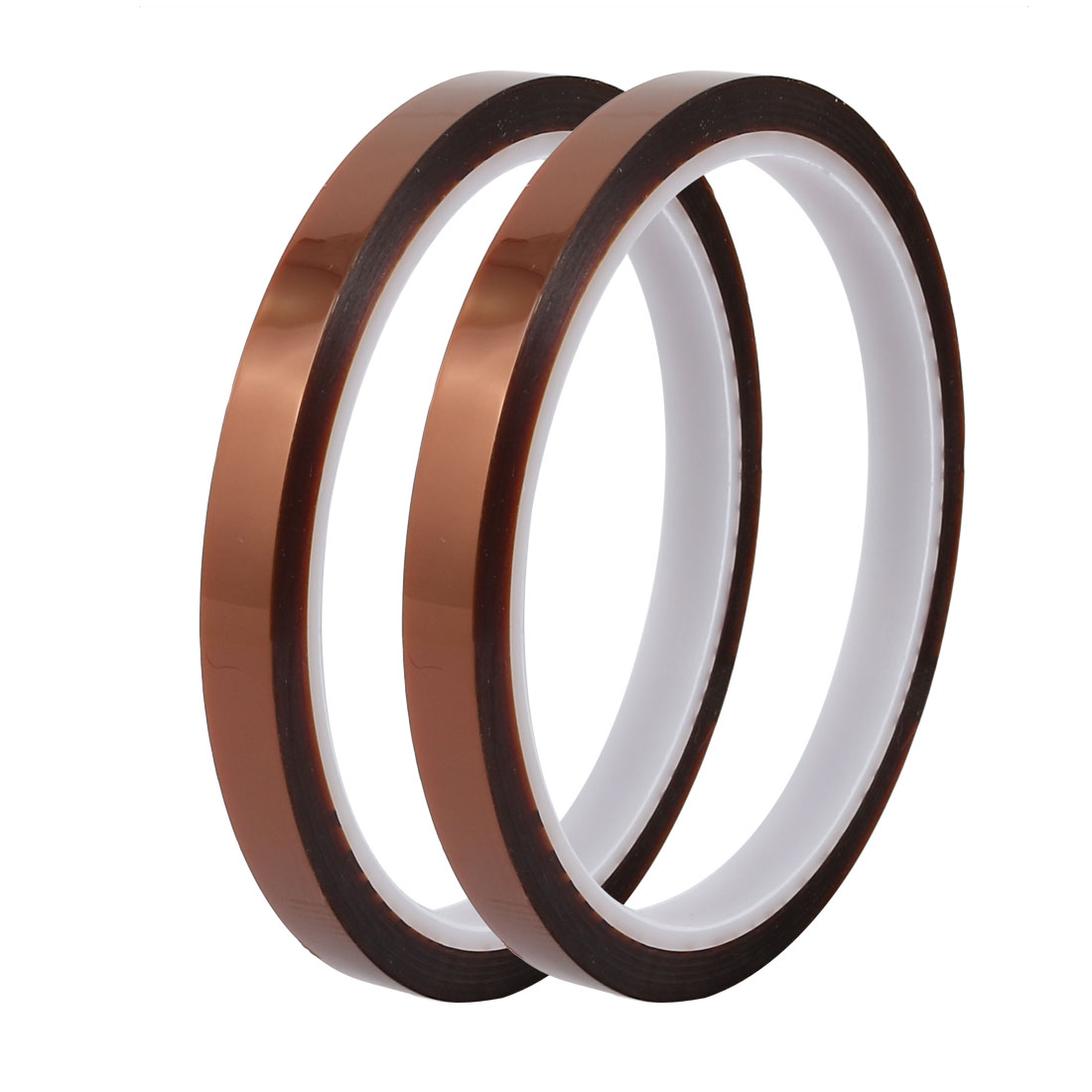 Unique Bargains 2pcs 8mm Wide 30yd Long Thermostability Insulation Polyimide Film Adhesive Tape
