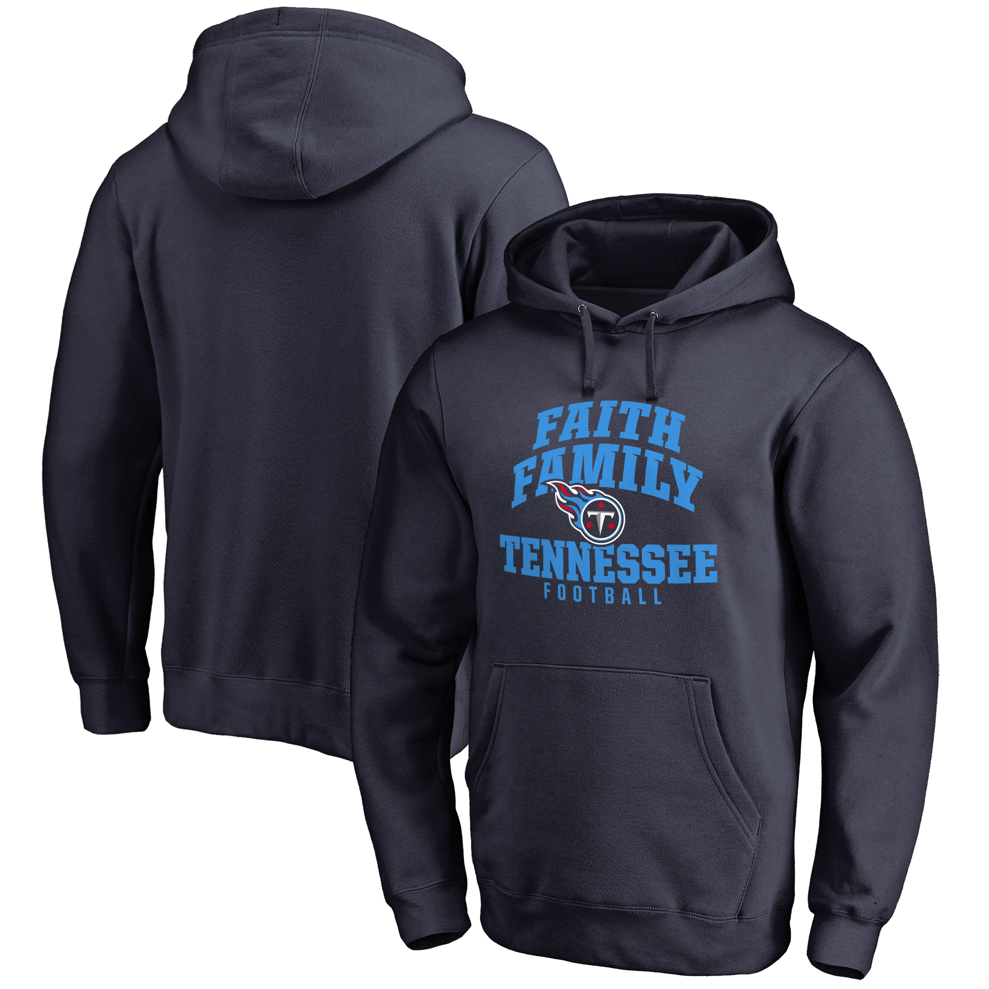 Tennessee Titans NFL Pro Line Faith Family Pullover Hoodie - Navy
