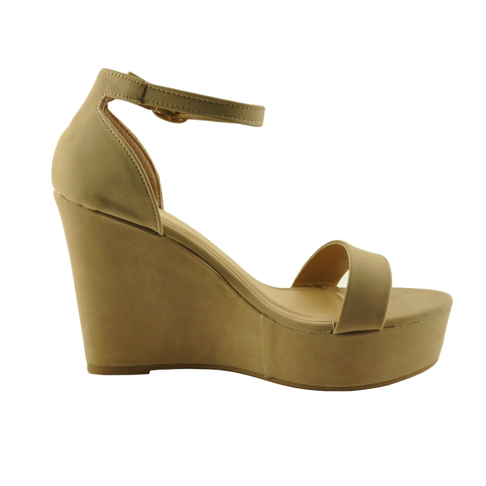 54d37069a82 Bamboo - Women s Shoes Bamboo Scorpio 21S Single Strap Platform Wedge -  Walmart.com