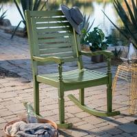 Belham Living Cottonwood Indoor/Outdoor Wood Rocking Chair - Olive