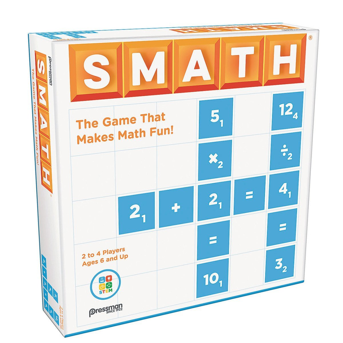 Smath Game, Contents include: SMATH Game Board, 184 Playing Pieces, Storage Bag, 4 Game Racks, Complete... by