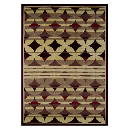 Home Dynamix 4480 Catalina Area Rug - Red-5.3 x 7.2 ft.