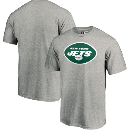 Men's Majestic Heathered Gray New York Jets Primary Logo - Nick Mangold New York Jets