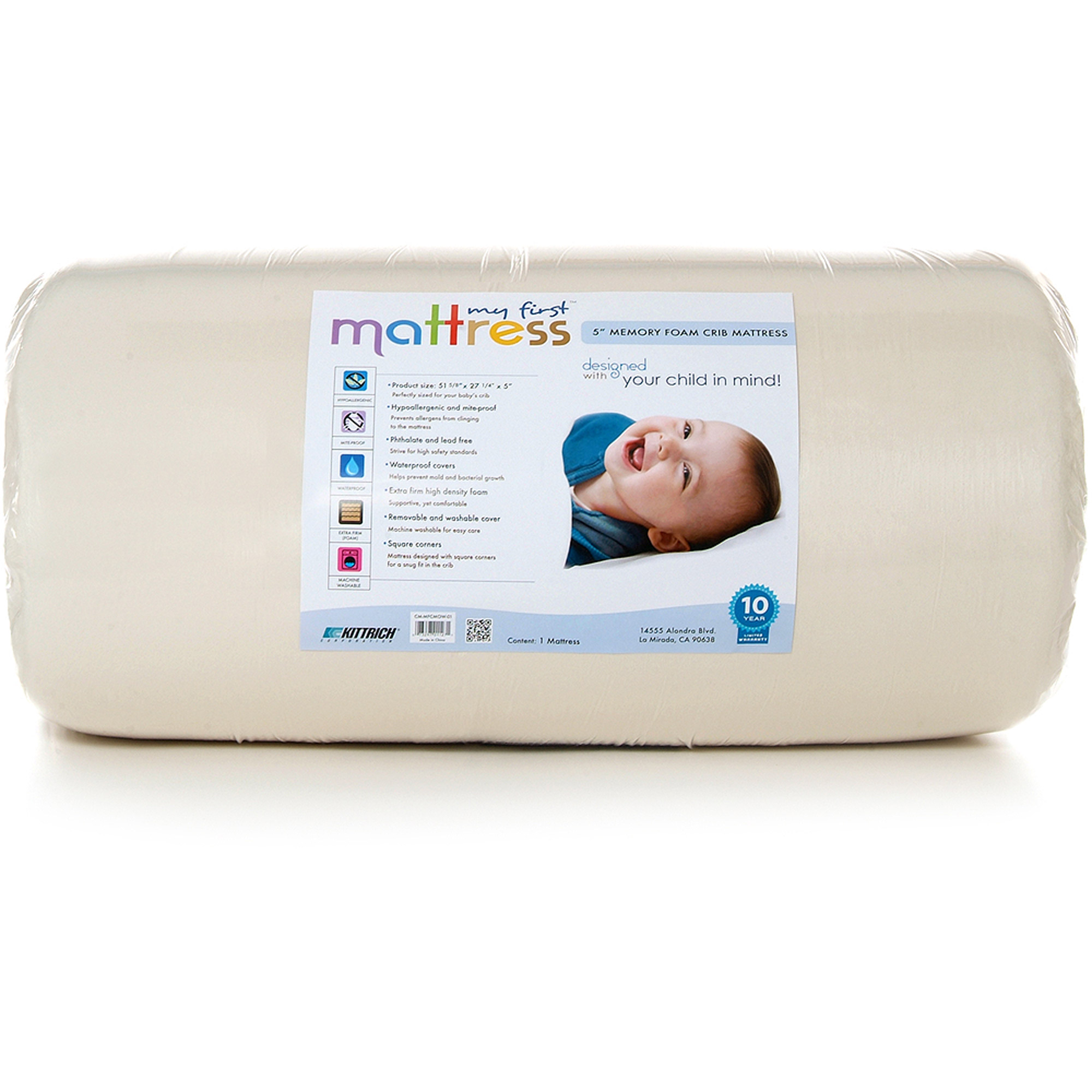my first crib mattress, memory foam crib mattress, removable