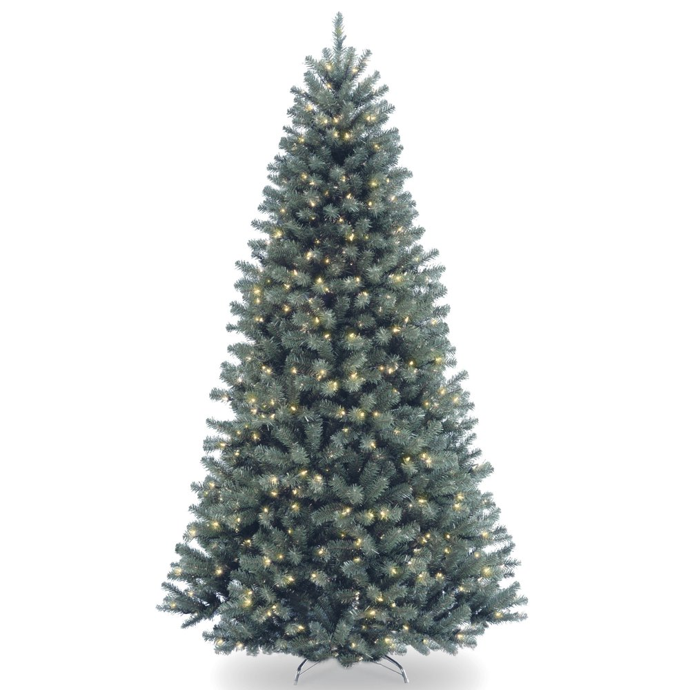 7.5 ft. North Valley Blue Spruce Tree with Multicolor ...
